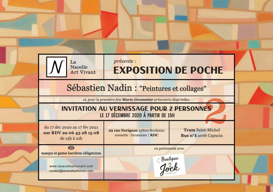 Exposition de poche : carton d'invitation