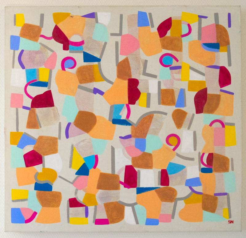 Peinture numérique enchantée, 2019, 60 x 60, acrylique - 559 Euros