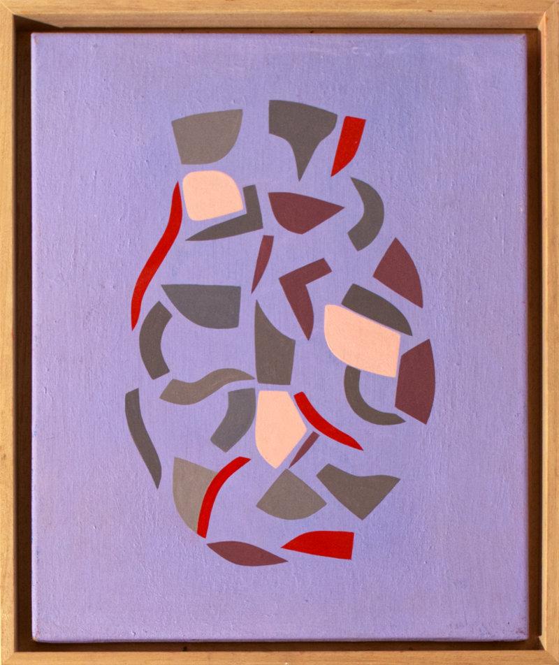 Sébastien Nadin, Vase Violet, 2019, 41 x 33 cm, acrylique, 350 Euros