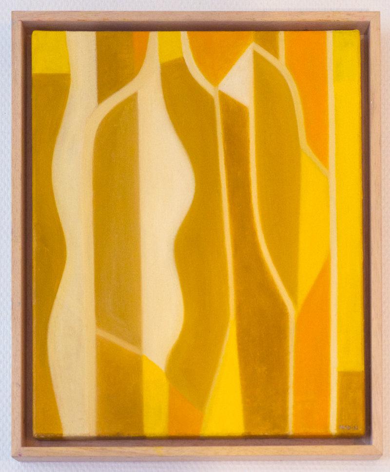 Sébastien Nadin, Vitrail jaune, 2018, 32 x 41 cm, huile, 349 Euros